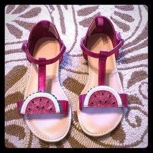 EUC Gymboree watermelon girls sandals size 1